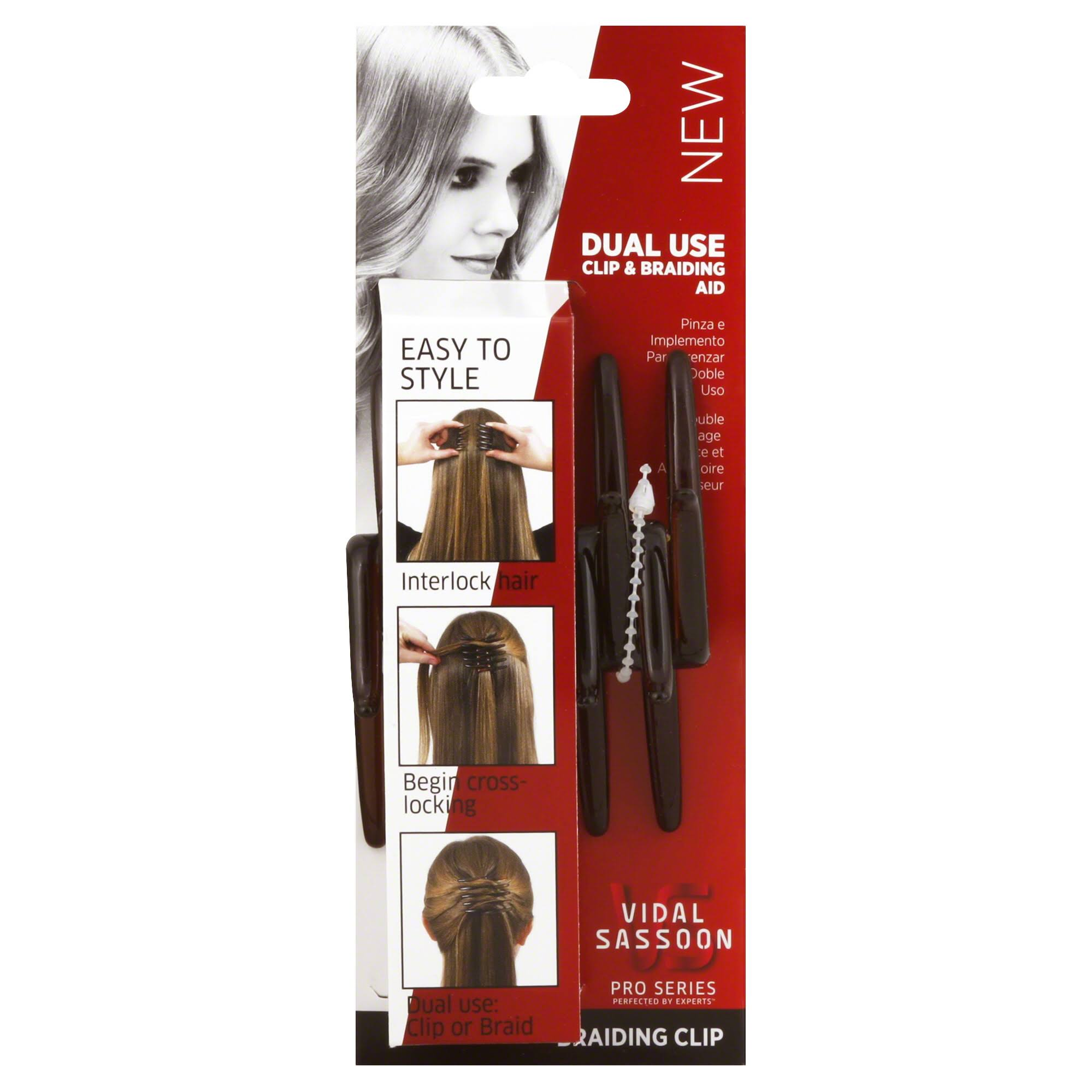 Vidal Sassoon Pro Series Clip & Braiding Aid, Dual Use