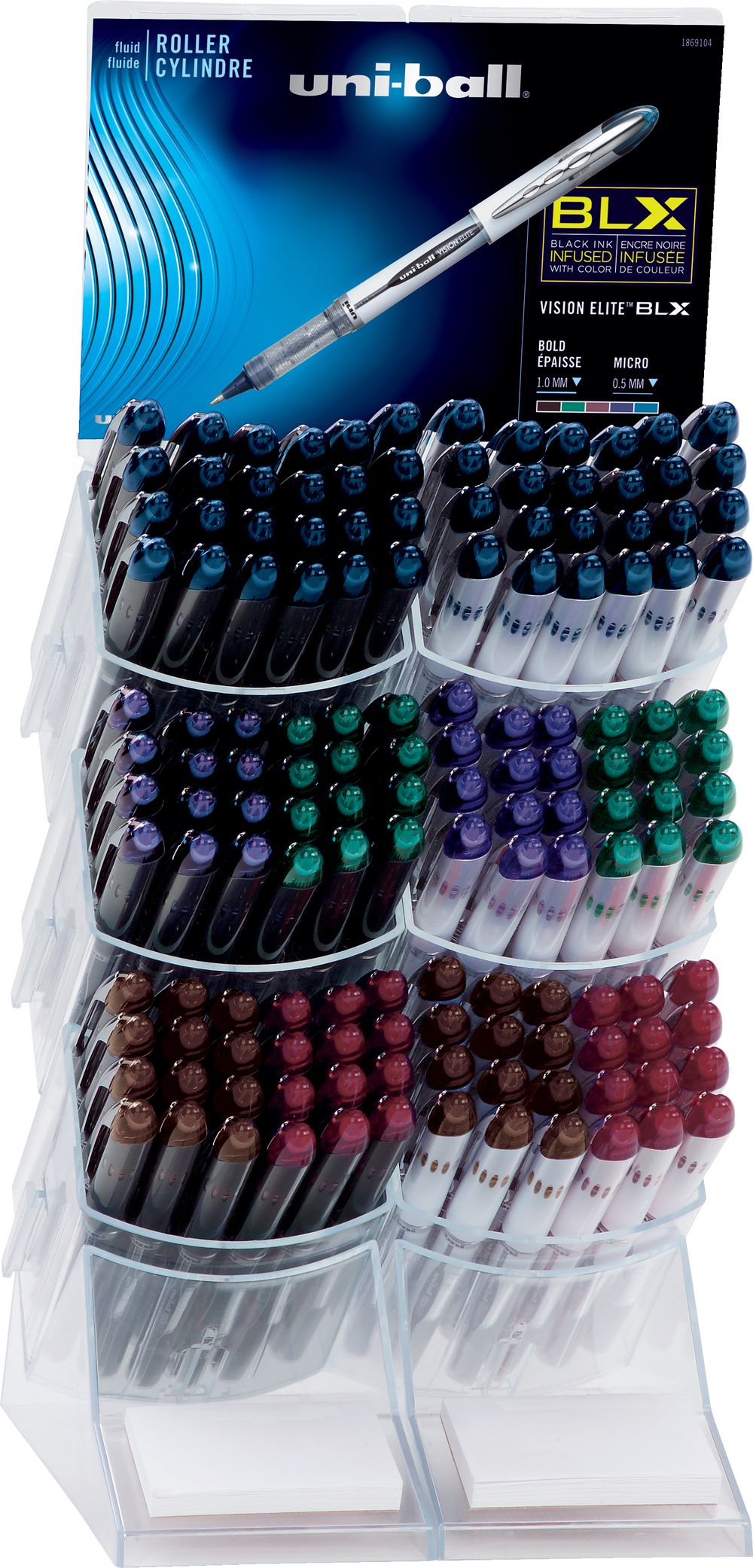 Uniball Vision Elite Display of 144 Pens