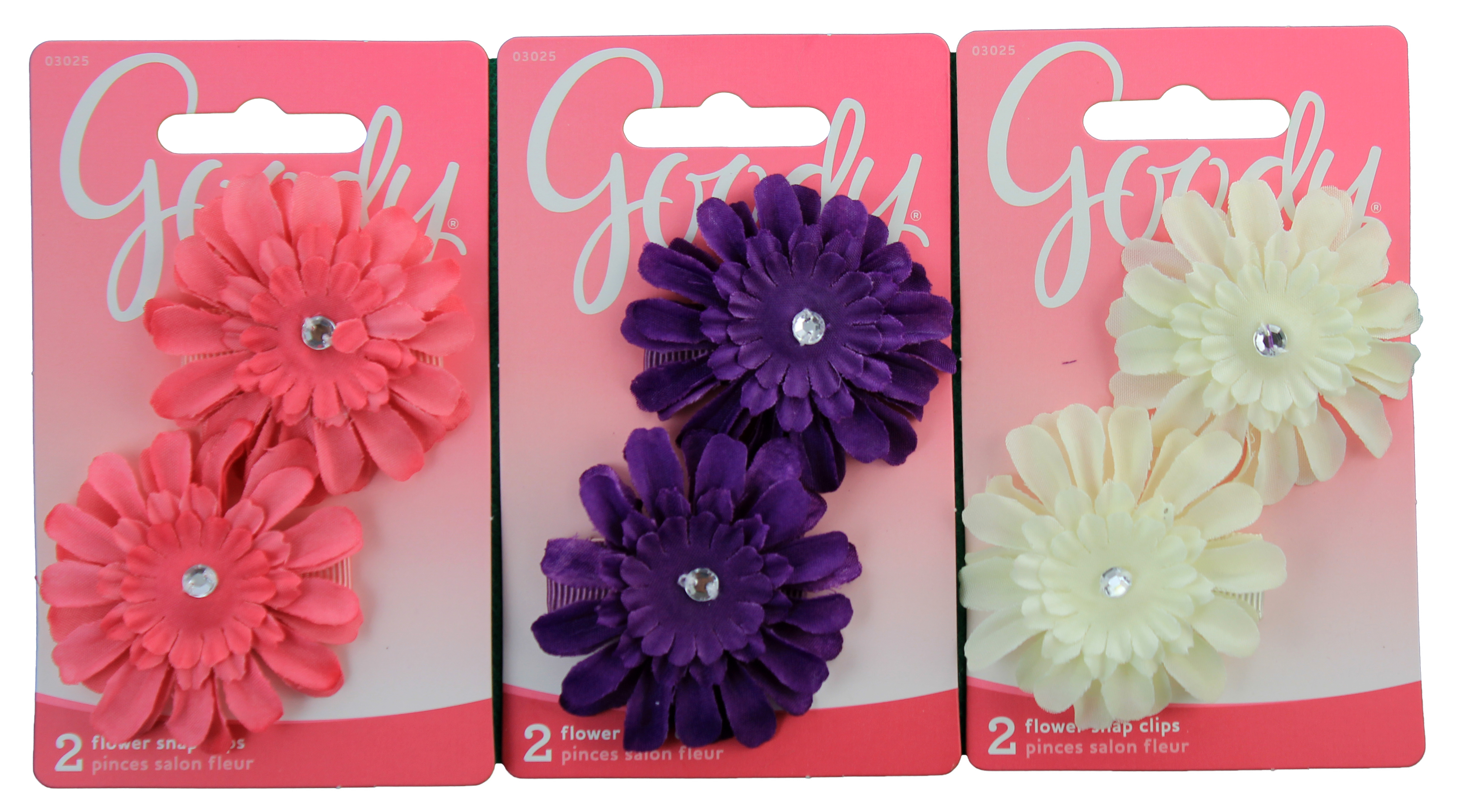 Goody Big Girls Flower Contour Clip, 2 CT
