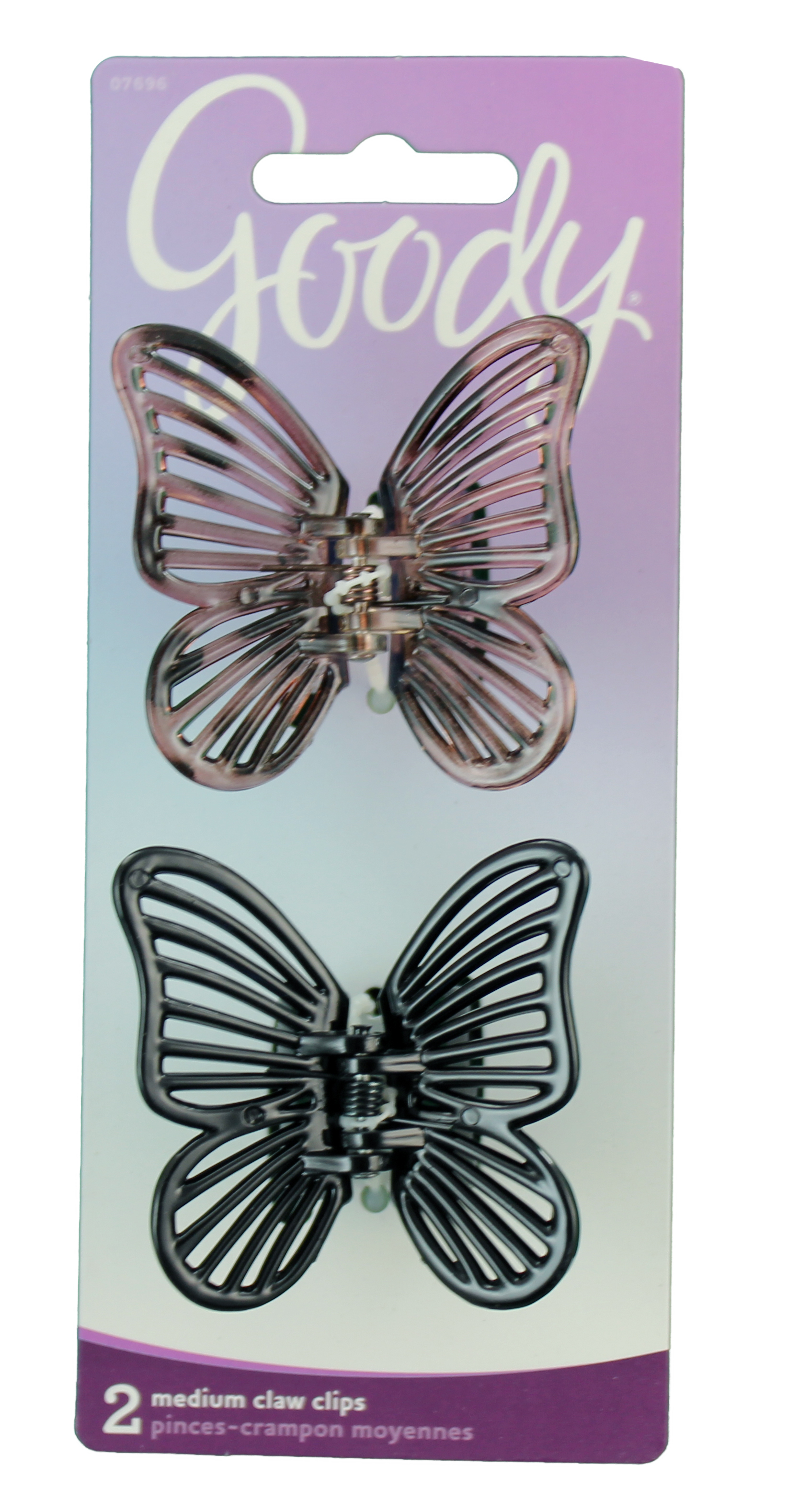 Goody Classics Butterfly Medium Claw Clips, 2 CT