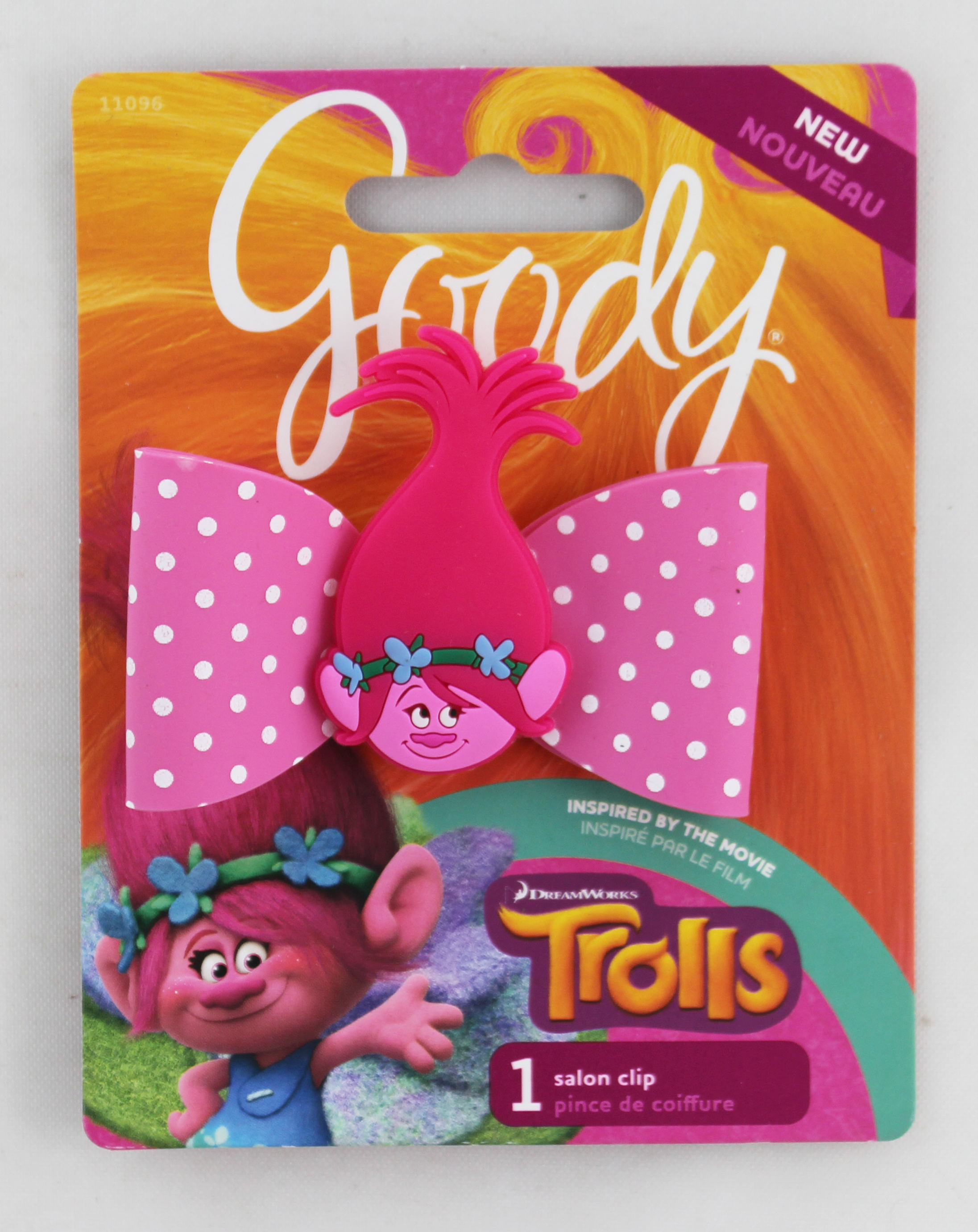 Goody Trolls Value Bow Salon Clip, 1 Count