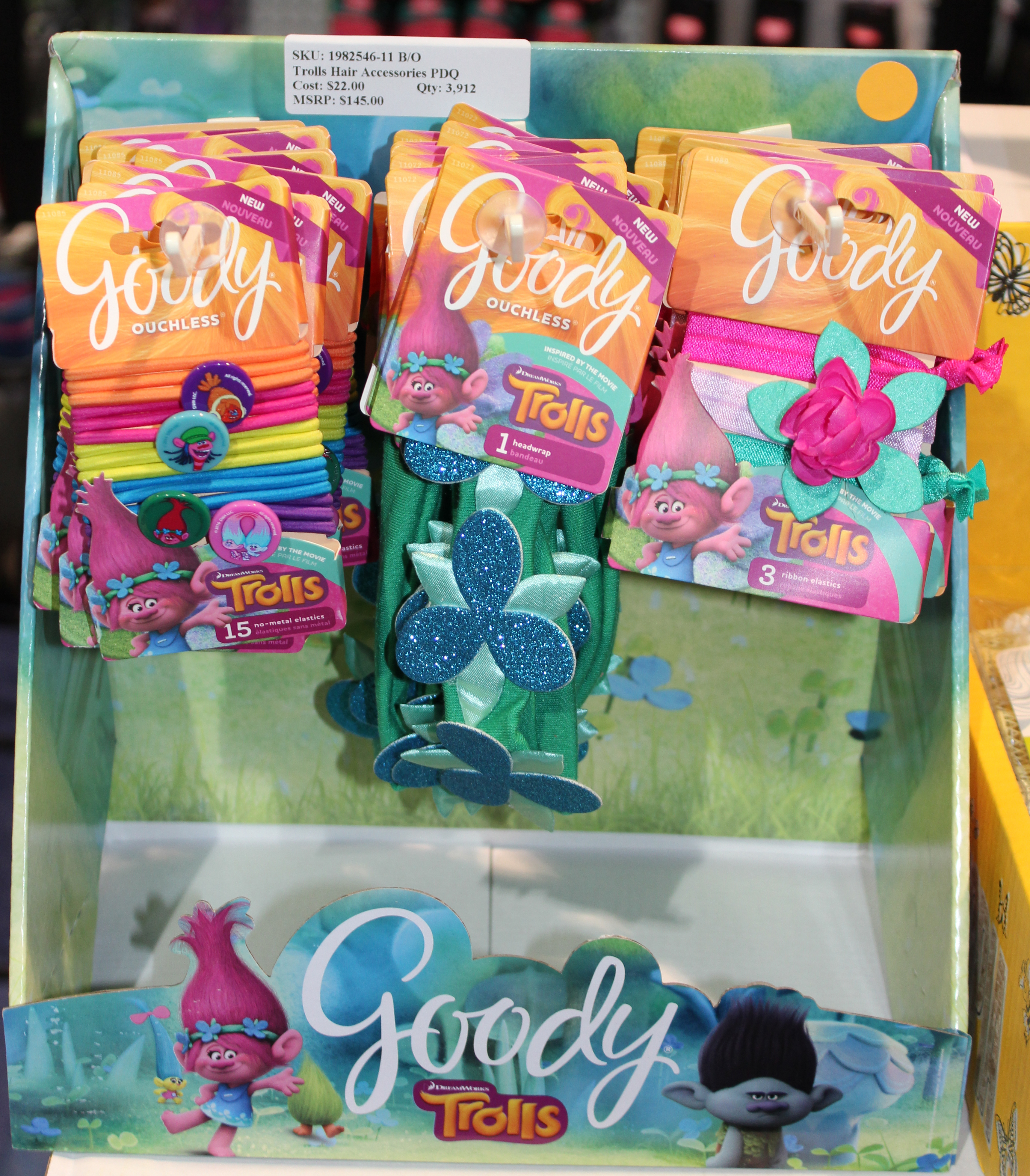 Goody Trolls 22 Unit PDQ Counter Top Display.