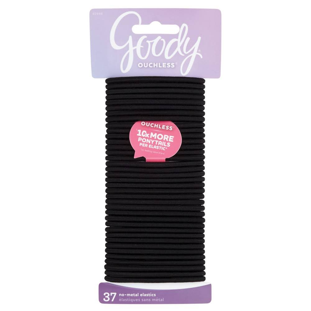 Goody Black Elastics 4MM, 37 Count. Minimum - 48 Packs