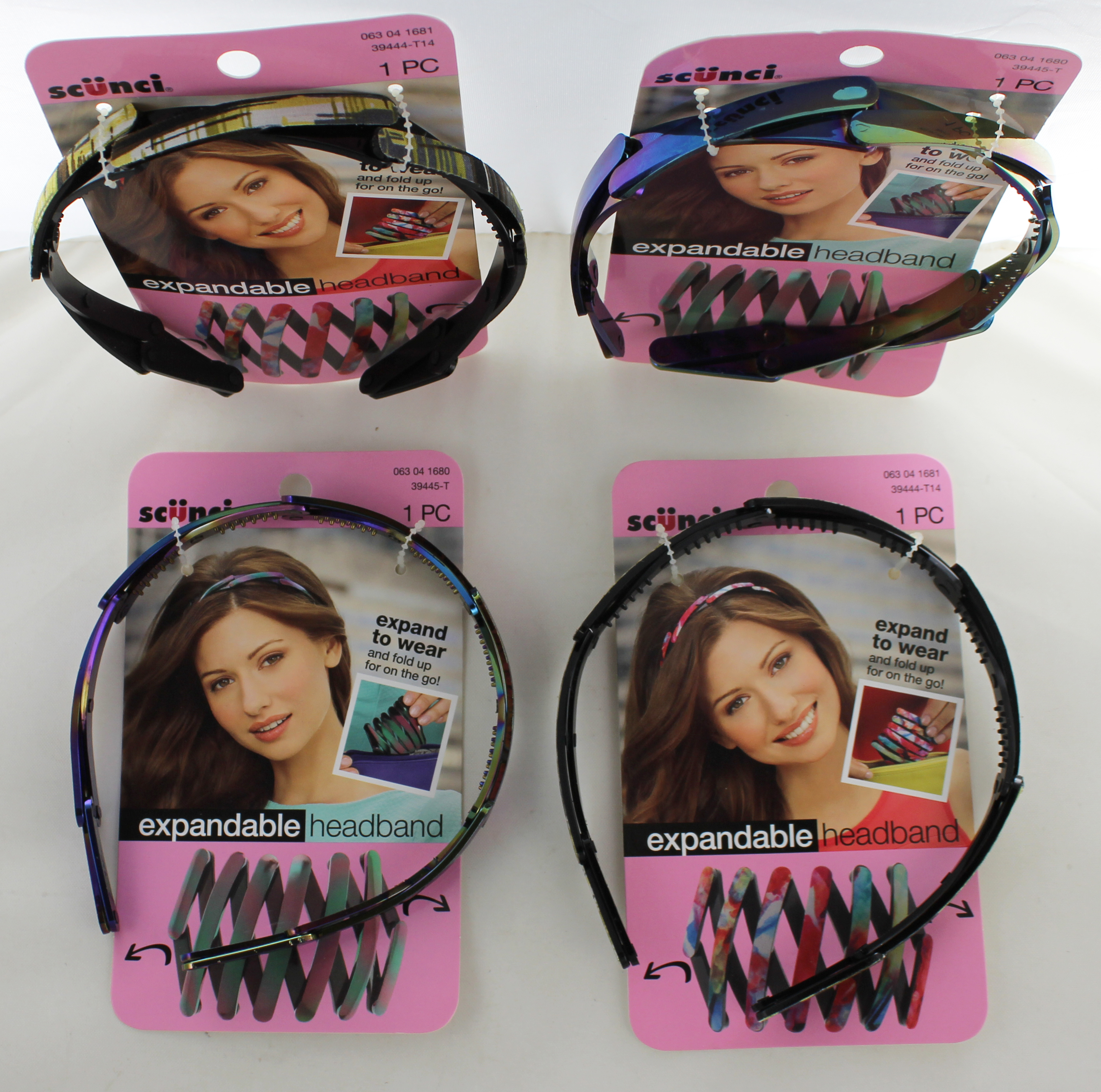 Scunci Headband Mixed Case of 36 Expandable Headbands