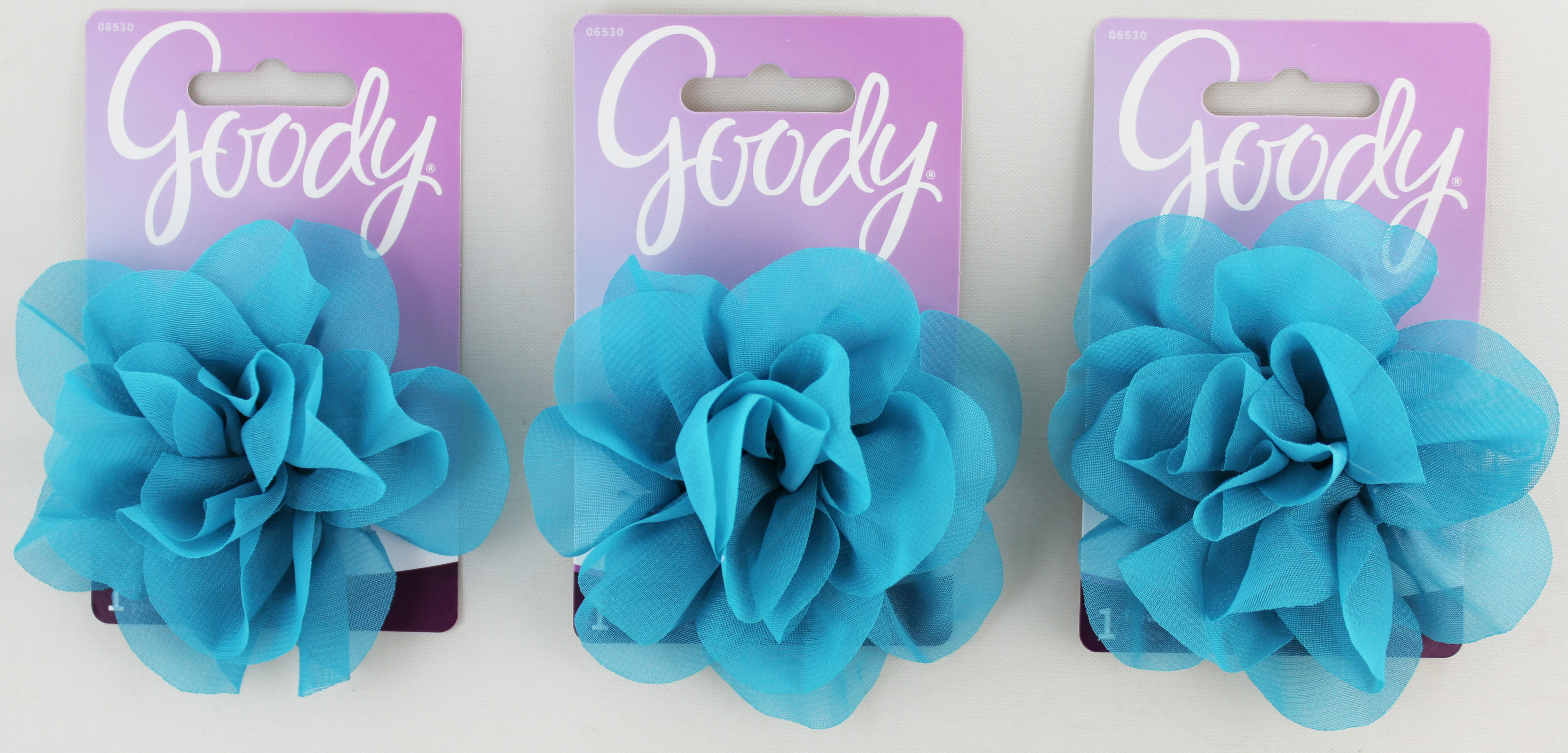 Goody Blue Clip + Flower Chiffon Turquoise 1ct