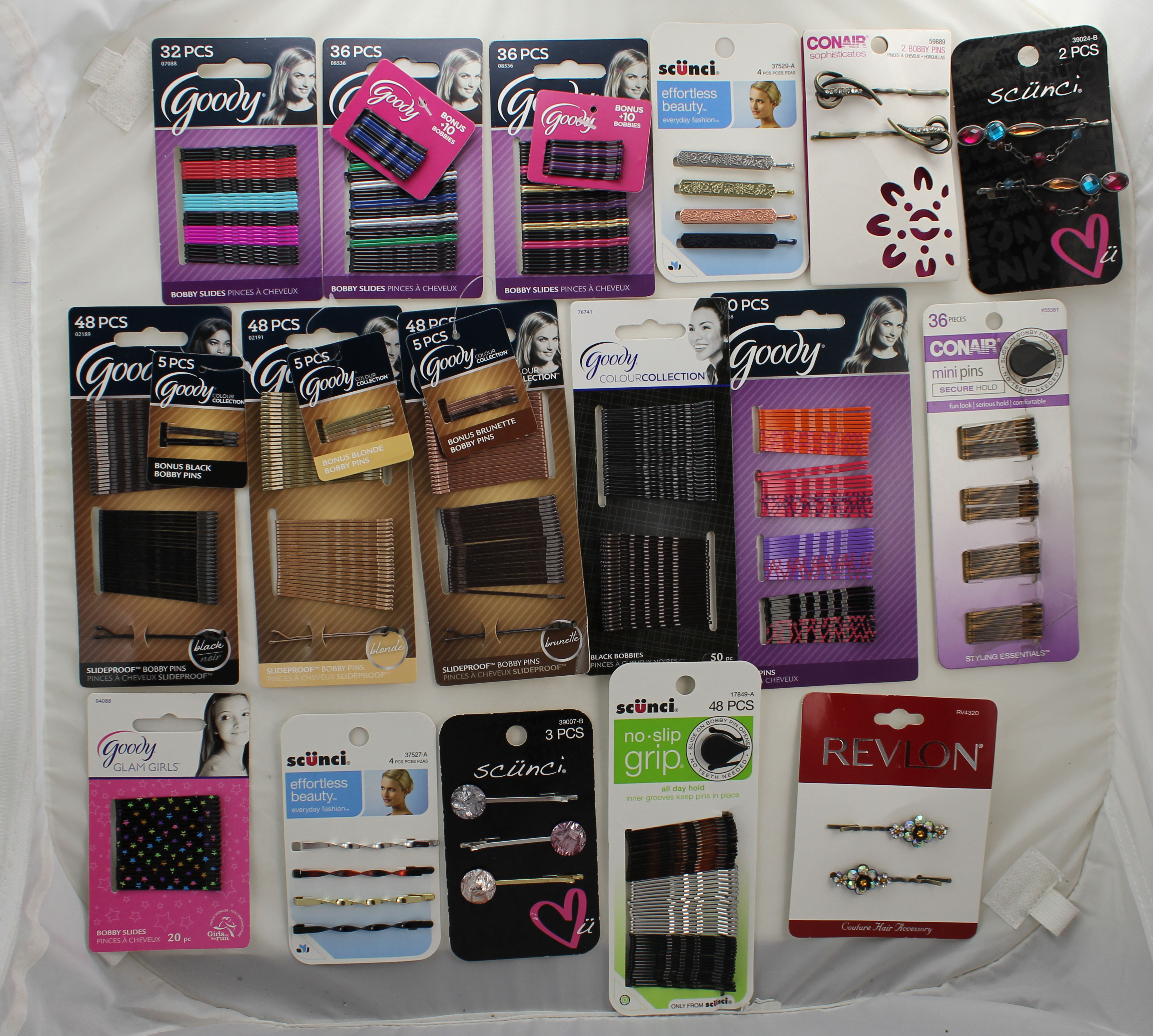Bobby Pin Variables - GOODY, REVLON, SCUNCI, CONAIR - 12 Count (THG)