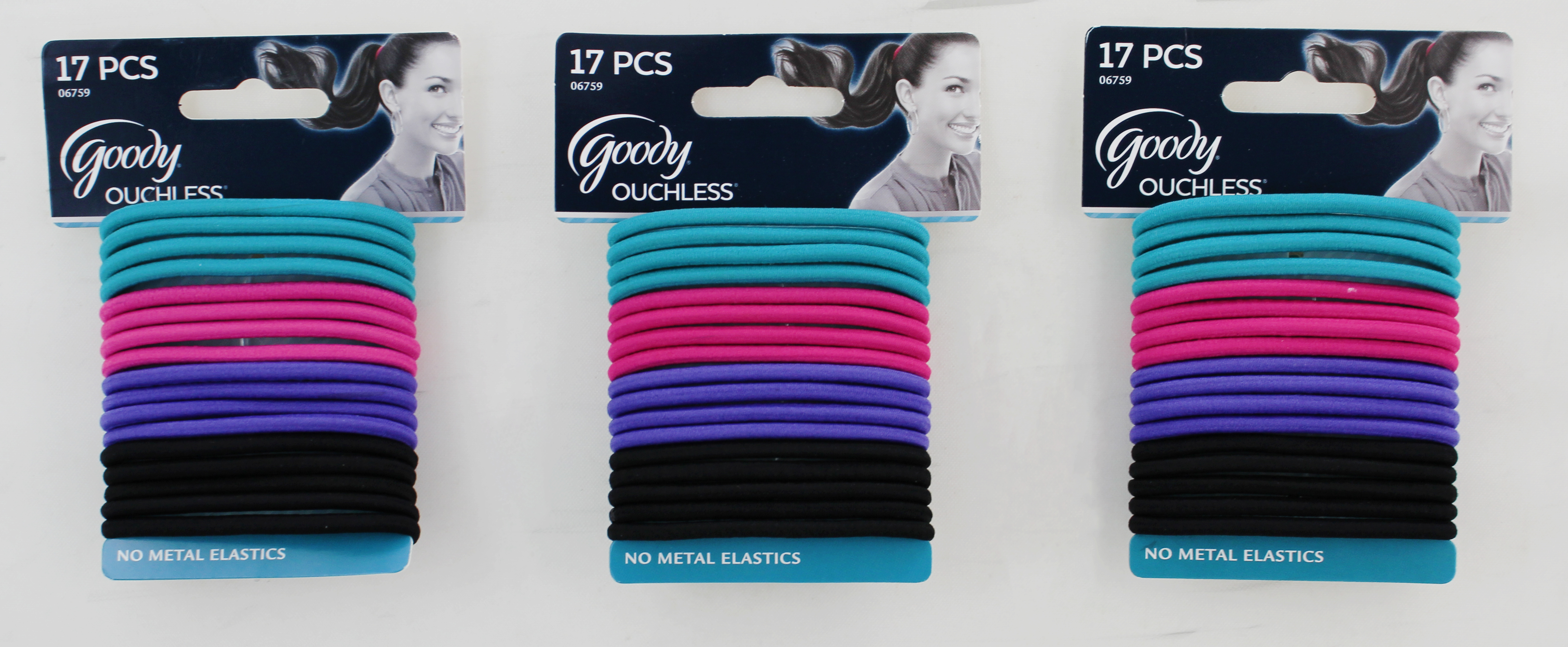 Goody Ouchless No Metal Elastics Purple Shade
