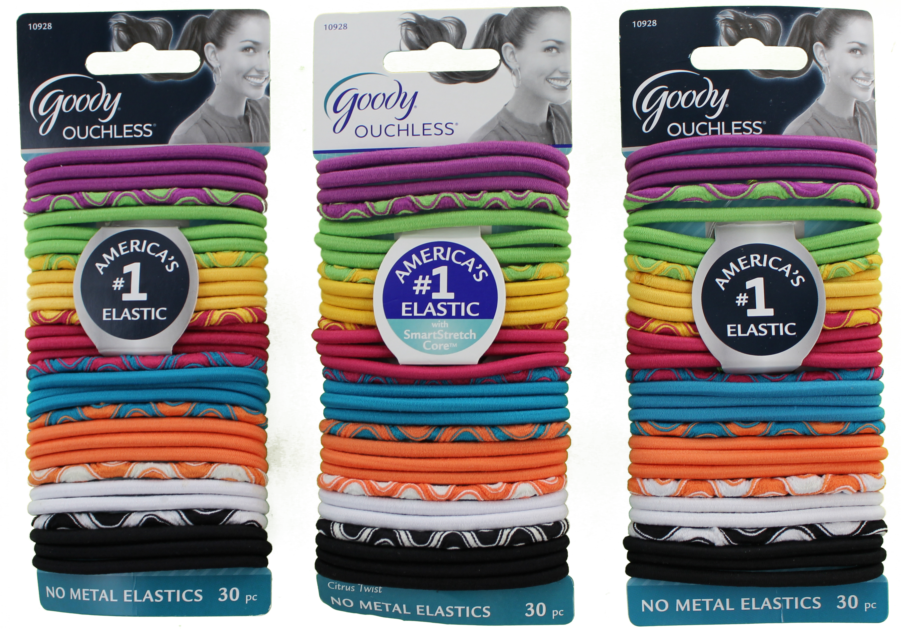 Goody Ouchless No Metal Elastics Citrus Twist 30 Count