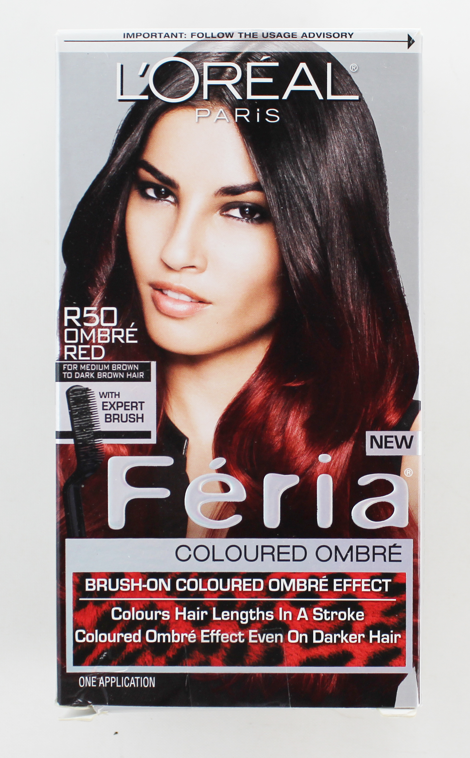 Loreal Feria Brush-on Ombre Effect Hair Color, R50 Ombre Red