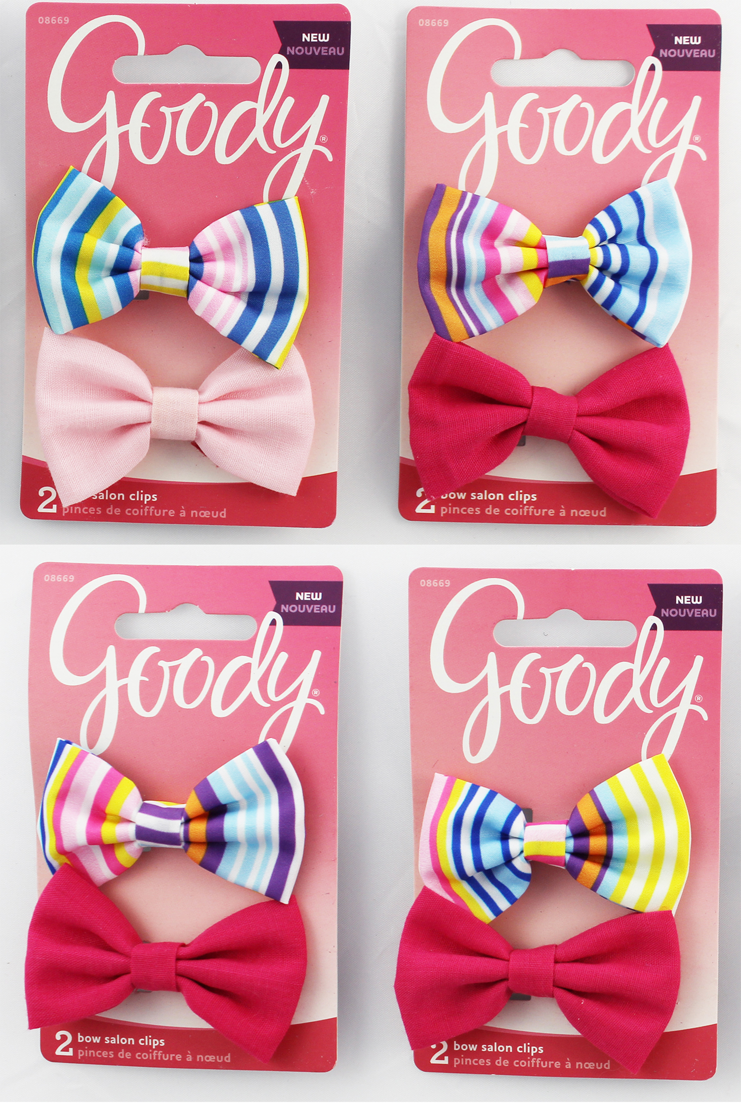 Goody Bow Salon Clips. Assorted Colors. New 1946083 041457086698