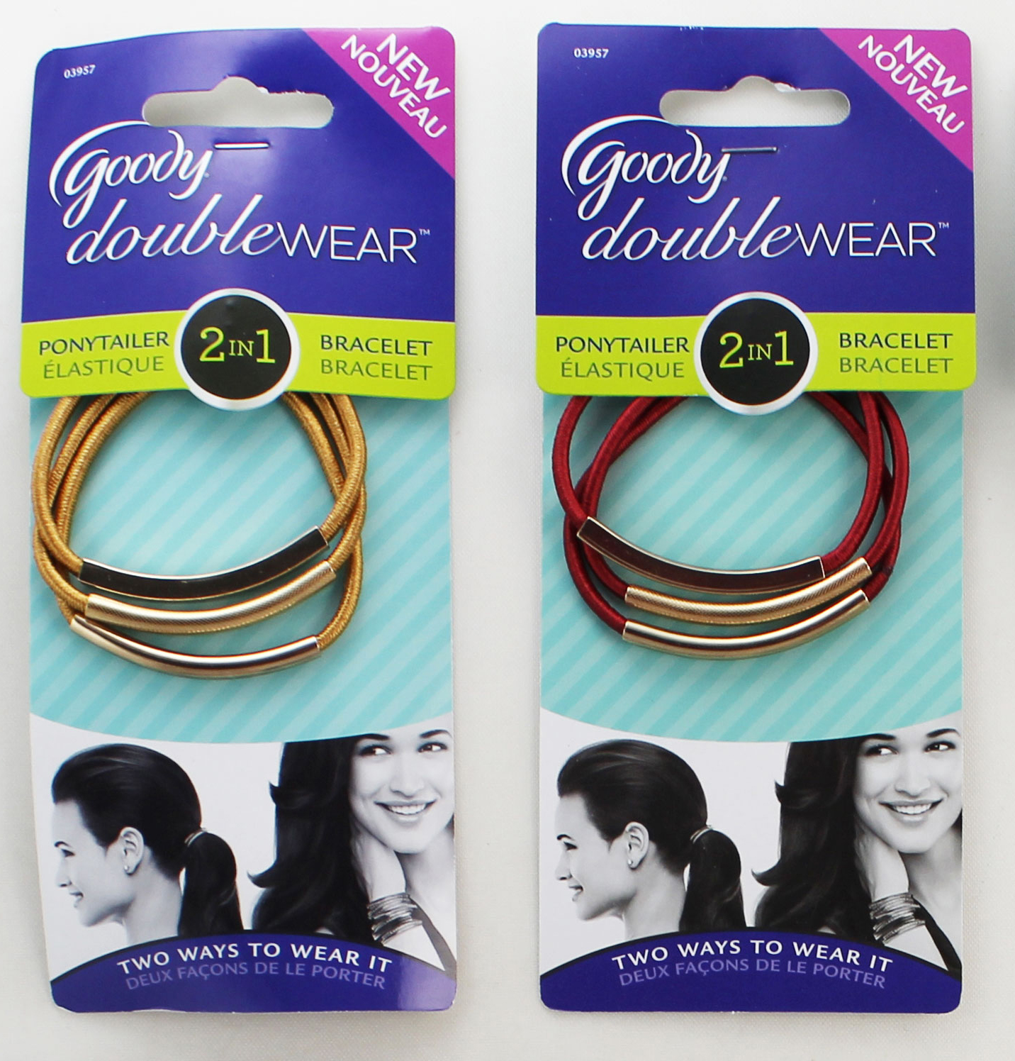 Goody DoubleWear Elastic/Bracelet Combo in Red and Gold