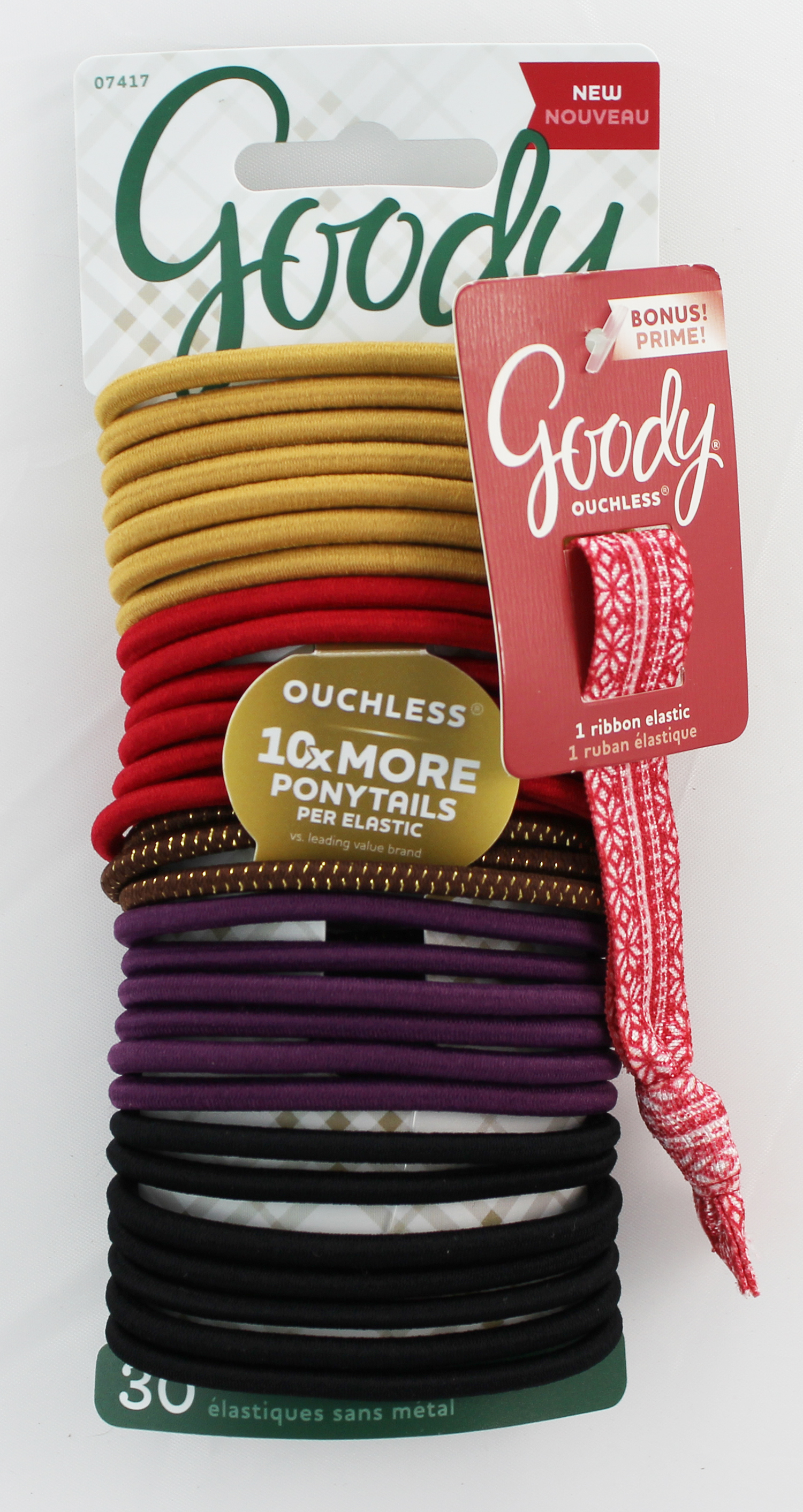 Goody Ouchless No Metal Elastics Ponytail Holder 1963622 07417