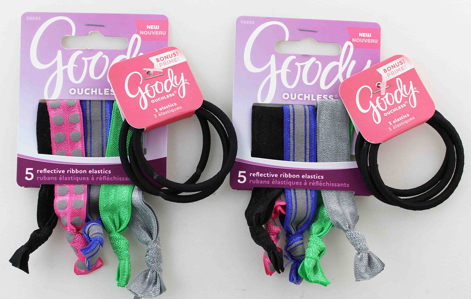 Goody Ouchless Reflective Ribbon Elastic Ponytail Holders